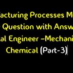 Manufacturing Processes MCQ Question
