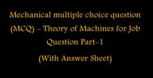Theory of machines - Mechanical Engineering Questions and Answers