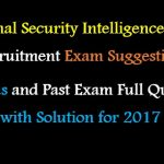 NSI Prime Minister Office Job Exam Question with Answer for-2017(PDF)