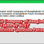 New and Update Question Pattern Of PGCB taken by BUET