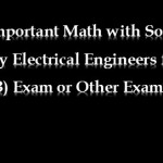 Electrical Engineering Math Solution