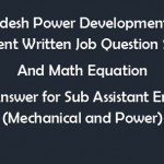 BPDB Job Question for Sub Assistant Engineers (Mechanical)