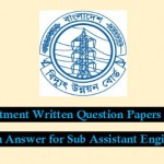 PDB,BPDB,DMRC Job Question for Sub Assistant Engineers