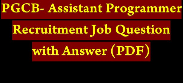 Assistant Programmer Recruitment Job Question with Answer(PDF)