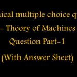 Mechanical -Theory of Machines Multiple Choice Question(MCQ) with Answers