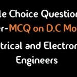 D.C Motor Electrical Machine Multiple Choice Questions and Answers-PDF