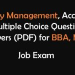 Inventory Management Multiple Choice Questions with Answers(PDF)