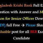 Bangladesh Krishi Bank Senior Officer Exam Question Solutions PDF