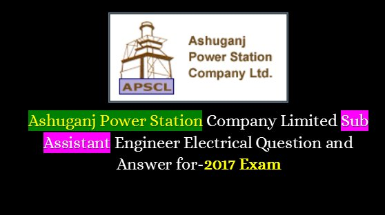 ASPCL Assistant and Sub Assistant Engineer Exam Questions Answer